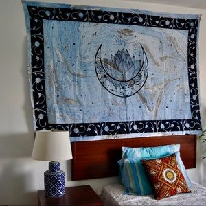 Moon with lotus tapestry,wall decor, wall hanging